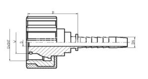 schita adaptor fiting cu olandeza piulita scurta